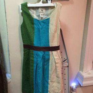 Anthropologie Tabitha tri color dress
